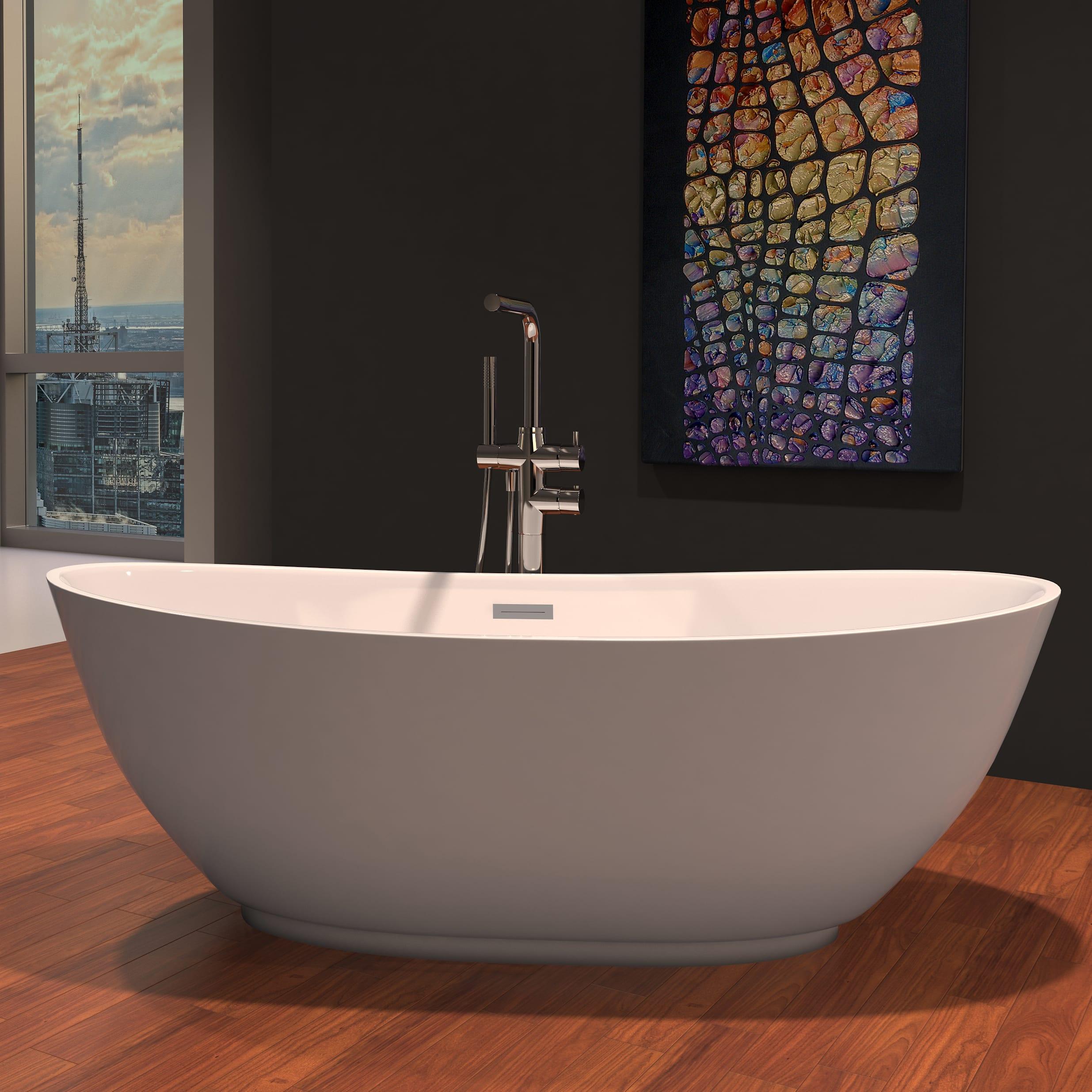 7 diy practical and decorative bathroom ideas.htm perlato ptrma6228 gw roma freestanding soaker tub qualitybath com  gw roma freestanding soaker tub