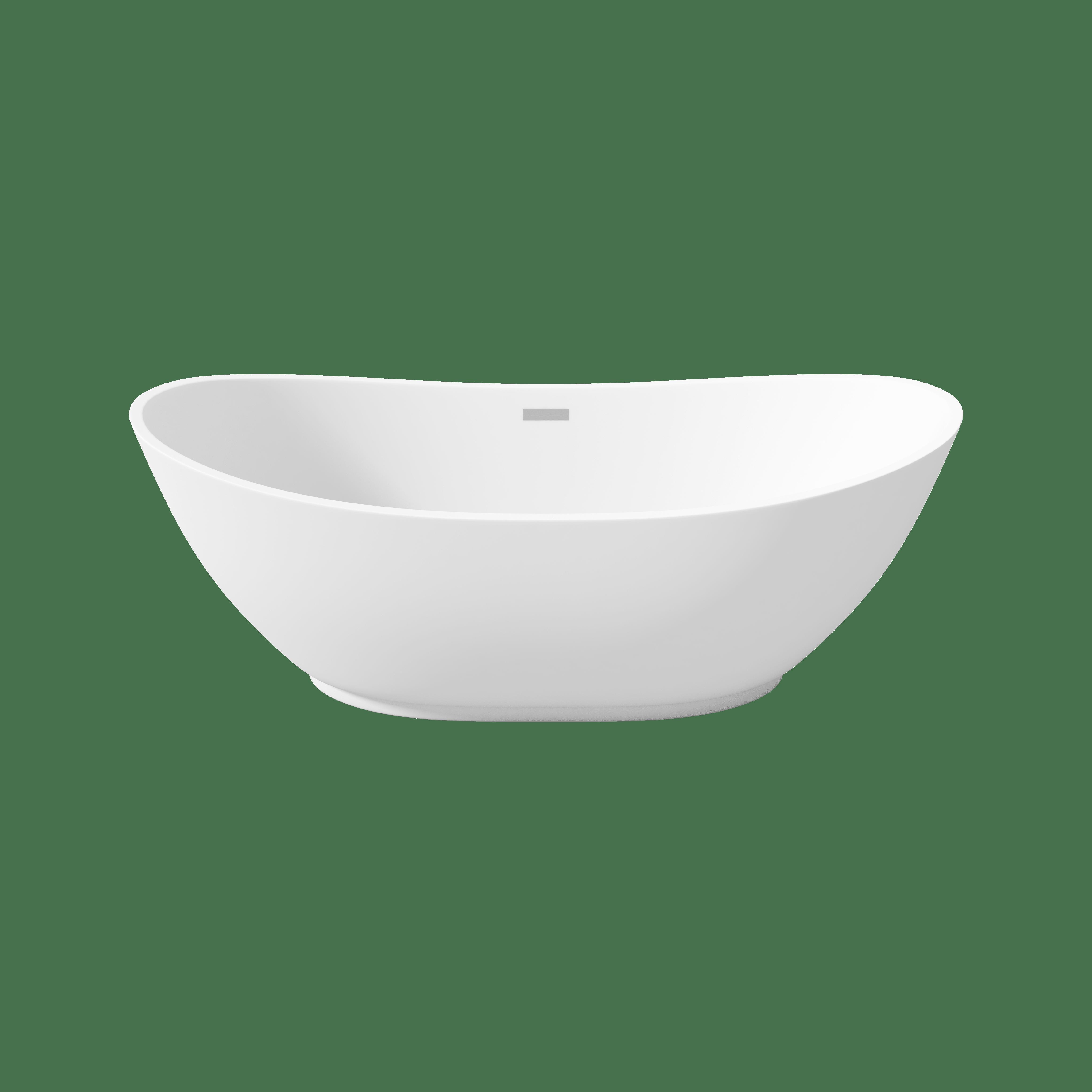 Perlato PTRMA6728 Roma Freestanding Soaker Tub | QualityBath.com