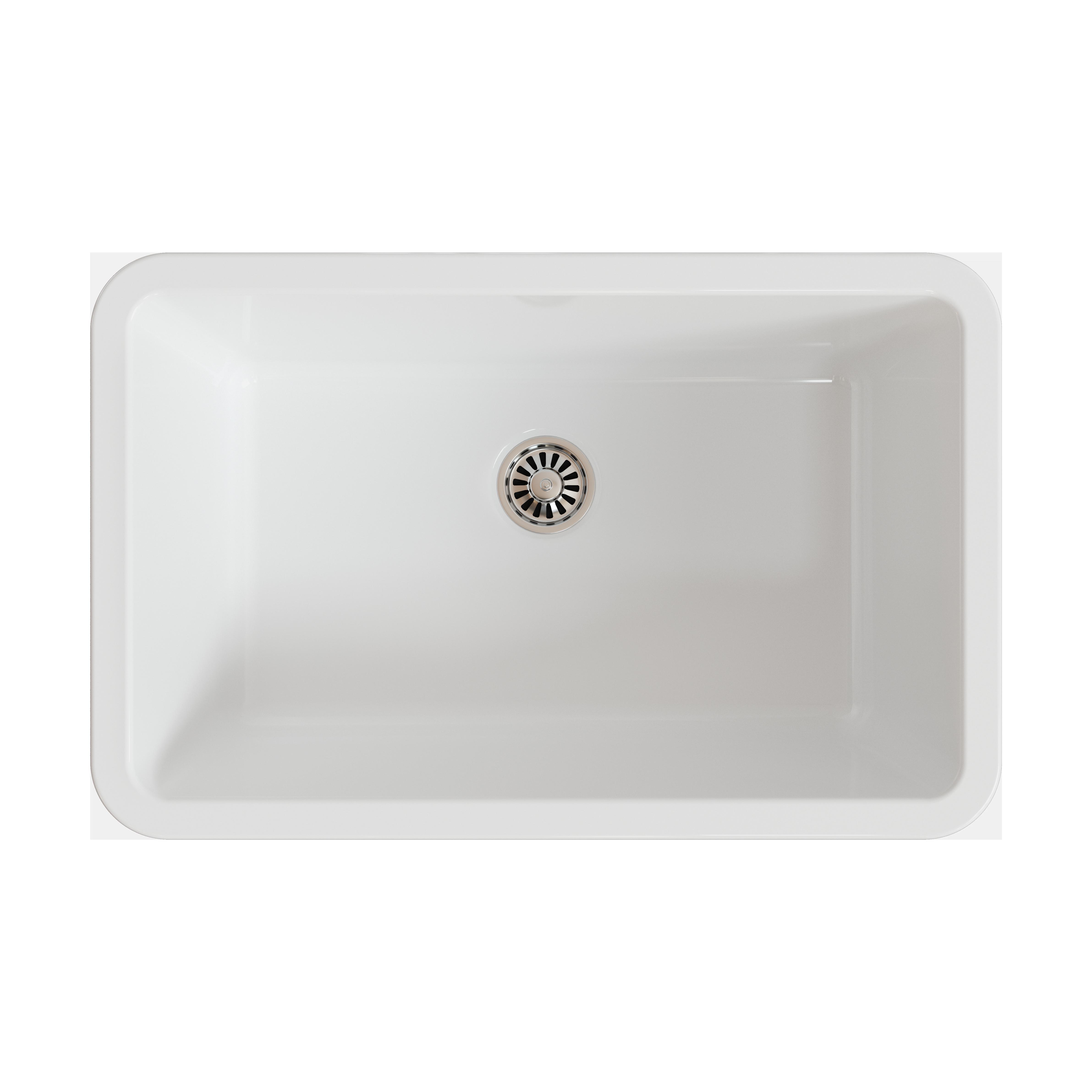Barclay Ks30 Wh Pierina 29 1 2 Fireclay Sink Qualitybath Com