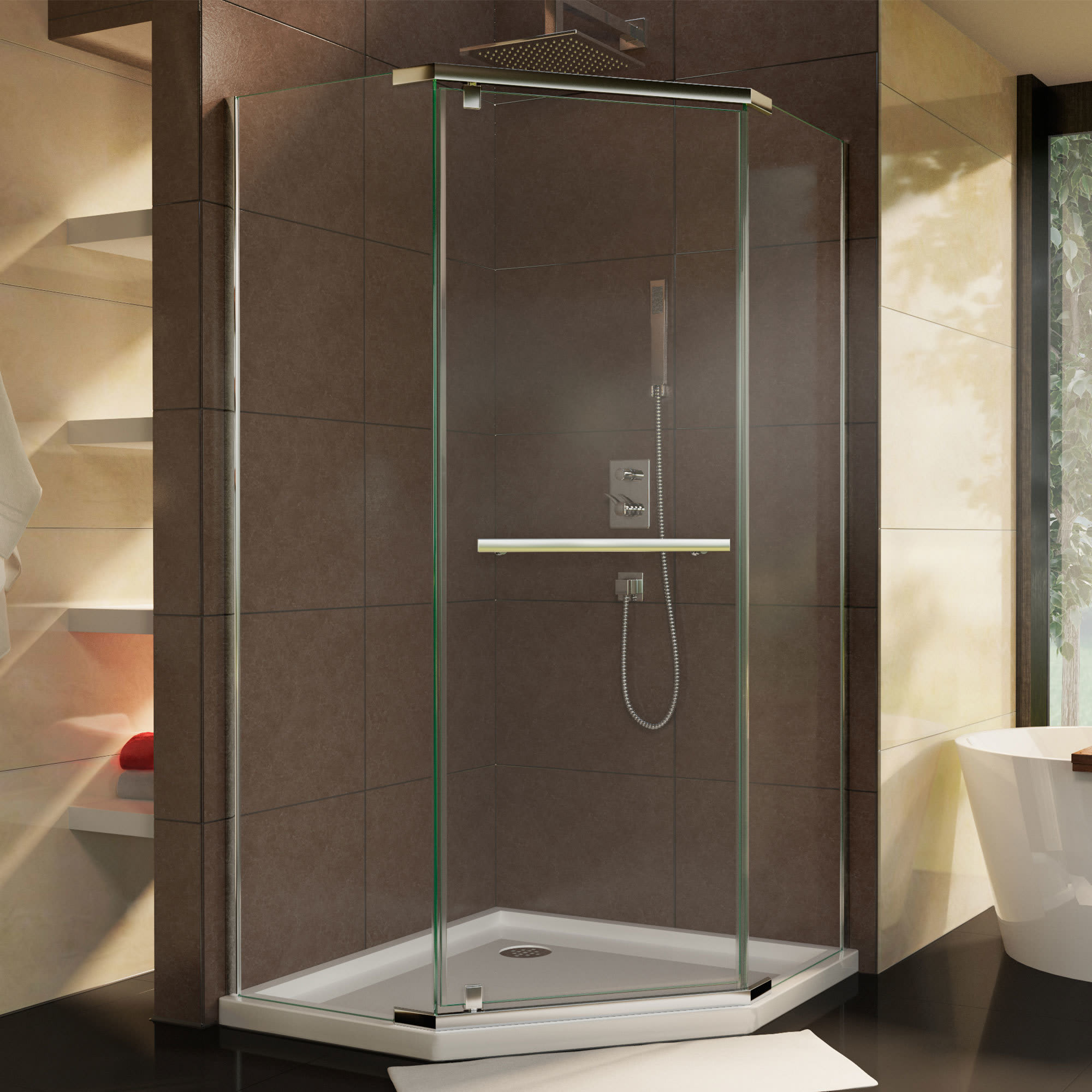 Dreamline Shen 2134340 01 Prism 34 1 8 Neo Angle Shower Enclosure
