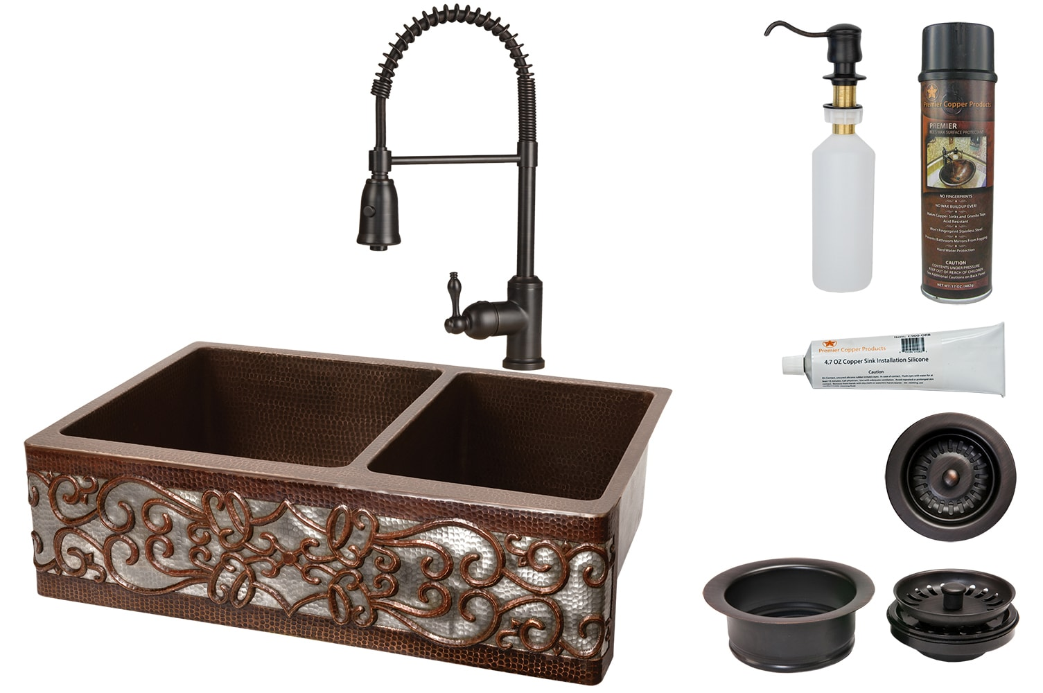 Premier Copper Ksp4 Ka60db33229s Nb 33 Kitchen Sink Faucet And Accessories Package