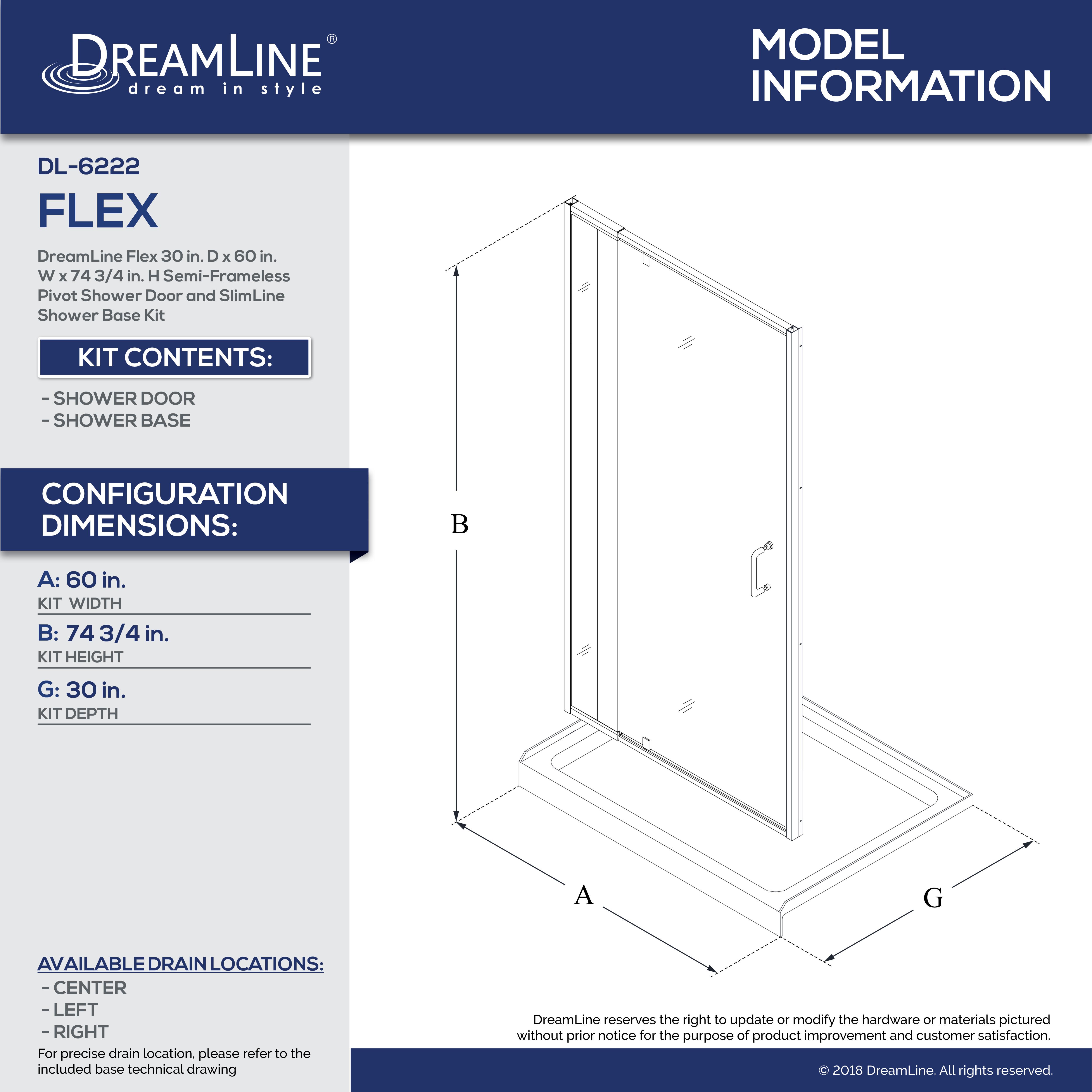 Flex Shower Door And Base