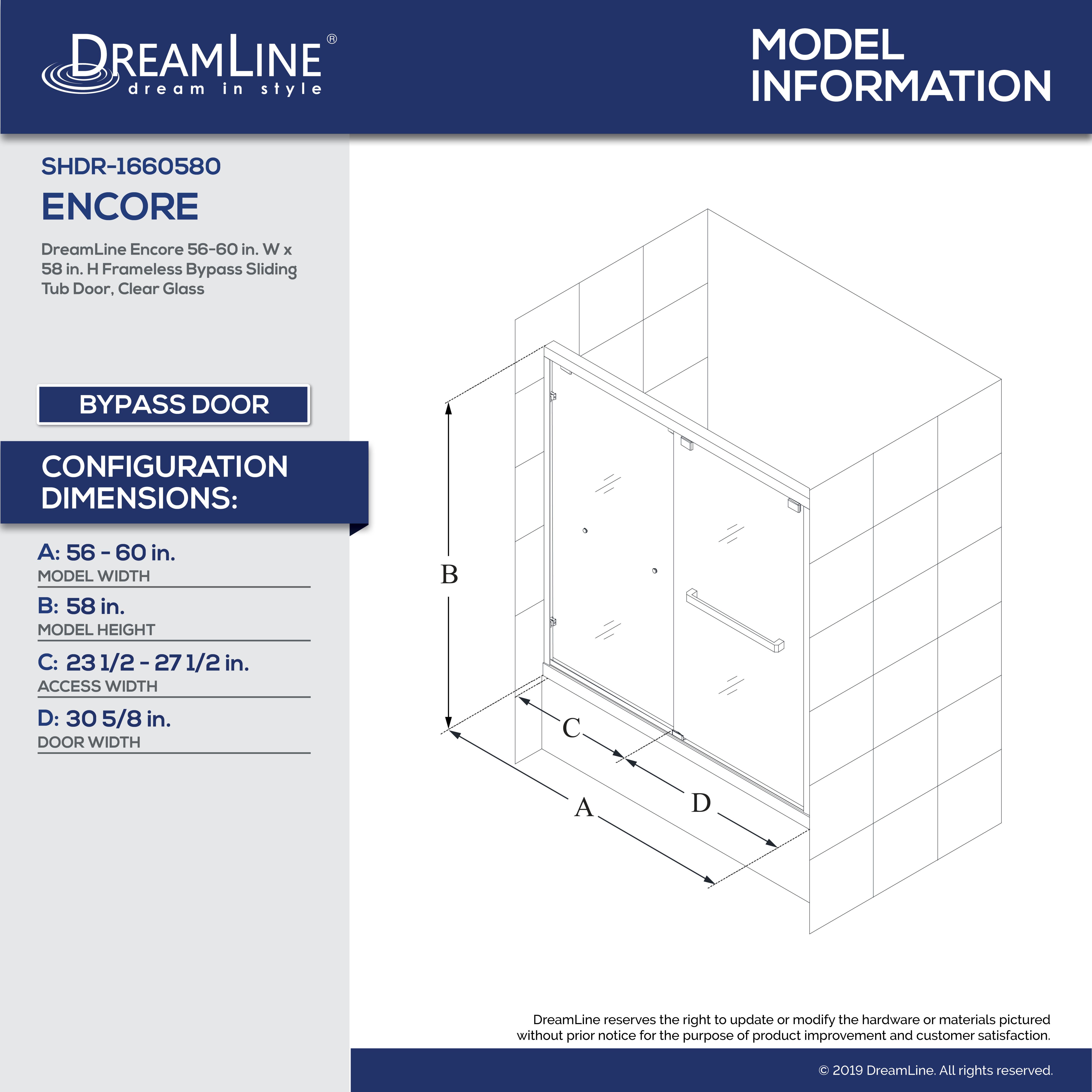 Dreamline Shdr 1660580 04 Encore Tub Door Qualitybath Com