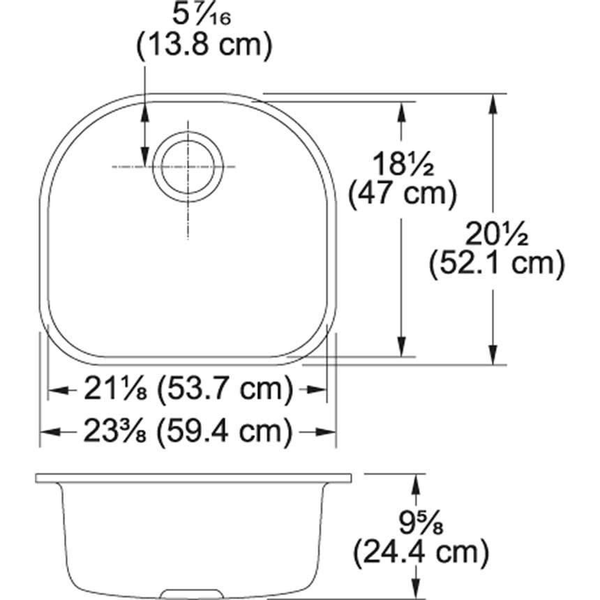 Franke Pcx1102109 Prestige 22 1 4 Quot Stainless Steel